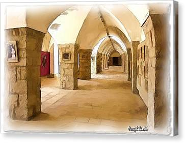 Canvas Print featuring the photograph Do-00324 Beiteddine Gallery by Digital Oil