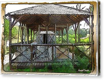 Canvas Print featuring the photograph Do-00341 Cabin Outdoor Bois Des Pins by Digital Oil