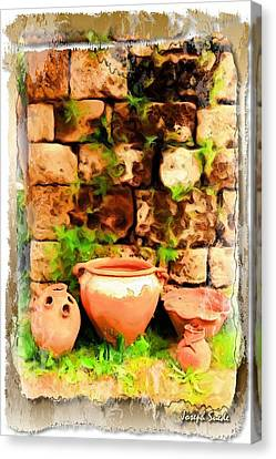 Canvas Print featuring the photograph Do-00348 Jars In Byblos by Digital Oil