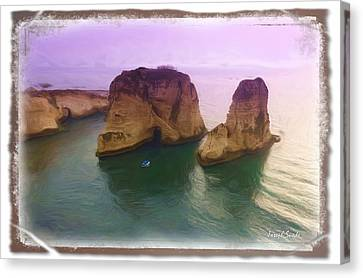 Canvas Print featuring the photograph Do-00404 Grotte Aux Pigeons by Digital Oil