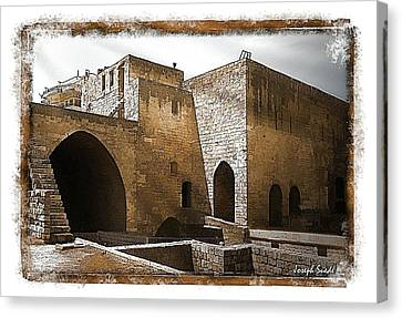 Canvas Print featuring the photograph Do-00422 St Gilles Citadelle by Digital Oil