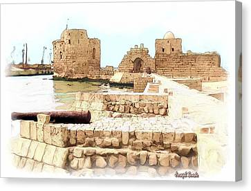 Do-00423 Citadel Of Sidon Canvas Print