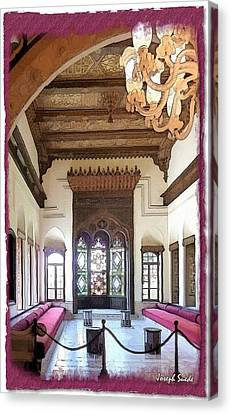 Canvas Print featuring the photograph Do-00448 Reception Room At Beiteddine by Digital Oil