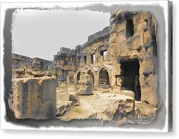 Canvas Print featuring the photograph Do-00452 Inside The Ruins by Digital Oil