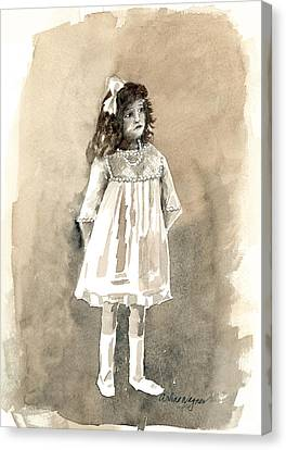 Tomboy Canvas Print - Do I Have To Wear A Dress by Arline Wagner