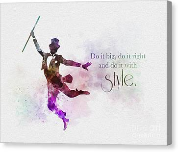 Do It With Style Canvas Print by Rebecca Jenkins