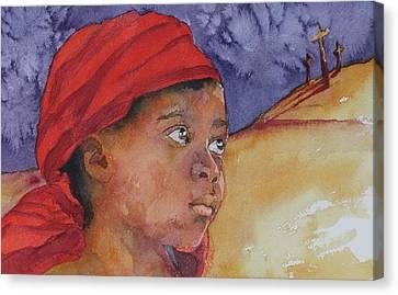 Do Not Be Afraid Canvas Print by Donna Pierce-Clark