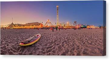 Do We Have To Go Home - Santa Cruz Beach Canvas Print by Scott Campbell