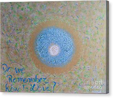 Do We Remember How To Love Canvas Print by Piercarla Garusi