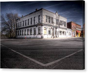Do You Remember The Good Old Days Before The Ghost Town Canvas Print