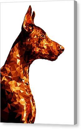 Doberman 2 Canvas Print by Gallini Design