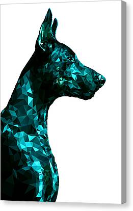 Doberman 4 Canvas Print by Gallini Design