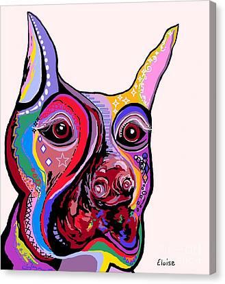 Surreal Canvas Print - Doberman by Eloise Schneider