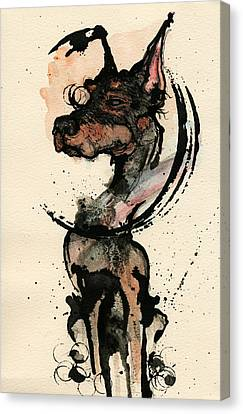 Doberman Canvas Print by Mark M  Mellon