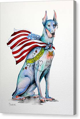 Doberman Napolean Canvas Print