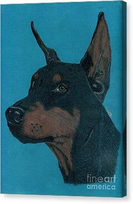 Doberman Pincher Canvas Print by Terri Mills