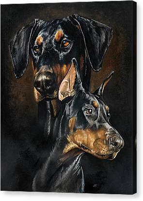 Working Dog Canvas Print - Doberman Pinscher by Barbara Keith