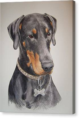 Canvas Print - Dobermann by Keran Sunaski Gilmore