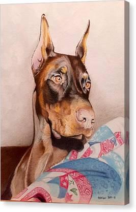 David Hoque Canvas Print - Rudy by David Hoque