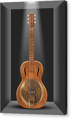 Dobro In A Box Canvas Print by Mike McGlothlen