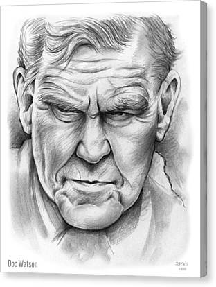 Doc Watson Canvas Print by Greg Joens