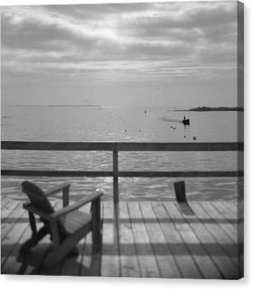 Dock And Chair Canvas Print