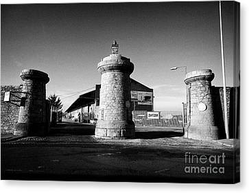 Dock Gates To Bramley-moore Dock Liverpool Docks Dockland Uk Canvas Print by Joe Fox