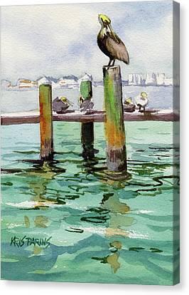 Dock O' The Bay Canvas Print by Kris Parins