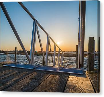 Dock On The Bay Canvas Print by Kristopher Schoenleber