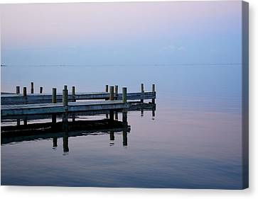 Canvas Print featuring the photograph Dock On The Indian River by Bradford Martin