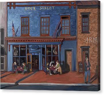 Dock Street-annapolis Canvas Print by Edward Williams