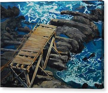 Dock Canvas Print by Travis Day