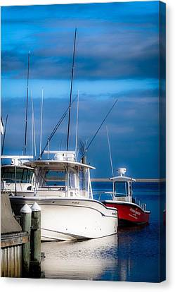 Docked And Quiet Canvas Print