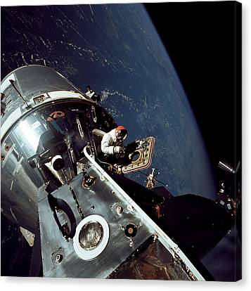Docked Apollo 9 Command And Service Canvas Print by Stocktrek Images