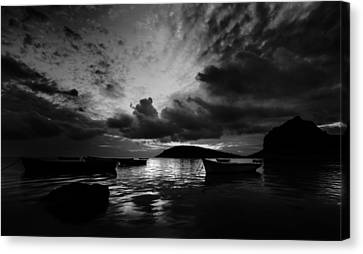 Mauritius Canvas Print - Docked At Dusk by Julian Cook