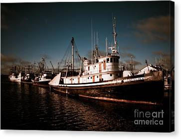 Docked For The Day Canvas Print by Venetta Archer