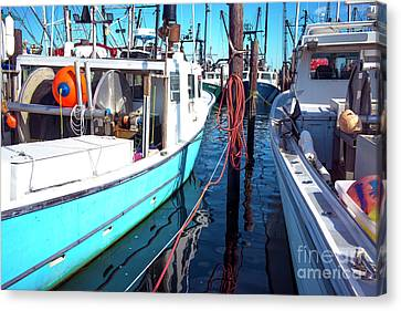 Canvas Print featuring the photograph Docked In Barnegat Bay by John Rizzuto