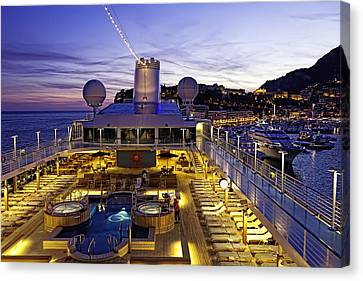 Docked In Monte Carlo Canvas Print by Janet Fikar