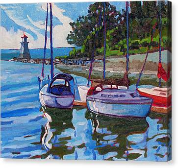 Docked In The Saugeen Canvas Print