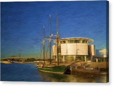 Docking Of The Denis Sullivan Canvas Print by Renee Skiba