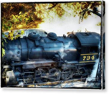 Docking The 734 Canvas Print by Steven Digman