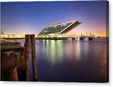 Canvas Print - Dockland At Night by Marc Huebner