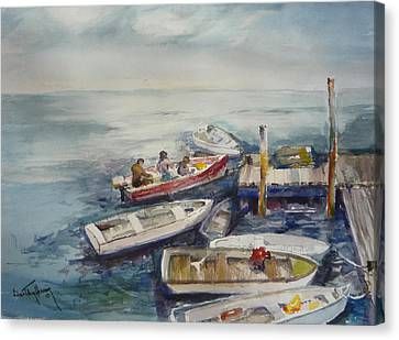 Dockside Canvas Print by Dorothy Herron