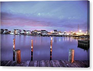 Dockside In Seaside Heights Canvas Print by Bob Cuthbert