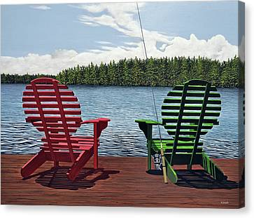 Dockside Canvas Print by Kenneth M  Kirsch