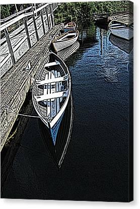 Dockside Quietude Canvas Print by Tim Allen