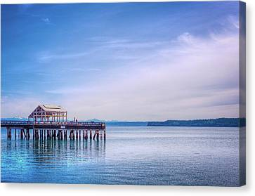 Canvas Print featuring the photograph Dockside by Spencer McDonald