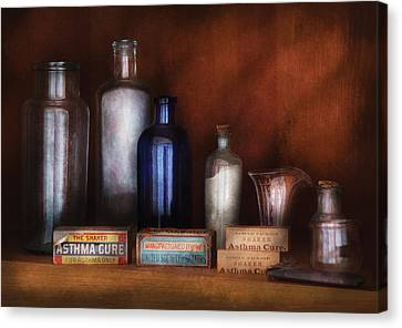 Doctor - Asthma Cures Canvas Print by Mike Savad
