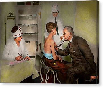 Doctor - At The Pediatricians Office 1925 Canvas Print