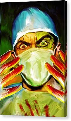 Doctor Frankenstein Mark Spears Monsters Canvas Print by Mark Spears